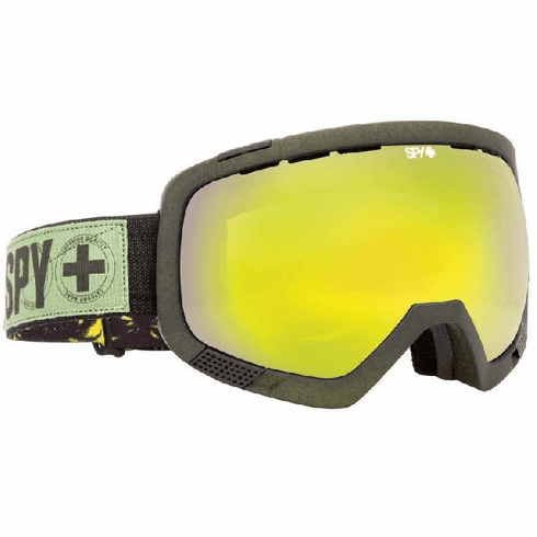 (Sale!!!) Spy Optic Platoon Snow Goggles<br>Beach Party Destroyer/Yellow w Green Spectra + Bronze