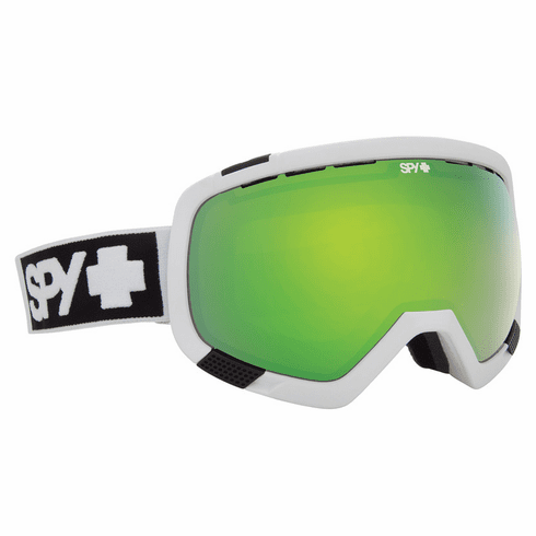 (Sale!!!) Spy Optic Platoon Snow Goggles<br>Matte White/Bronze w/Green Spectra + Blue Contact