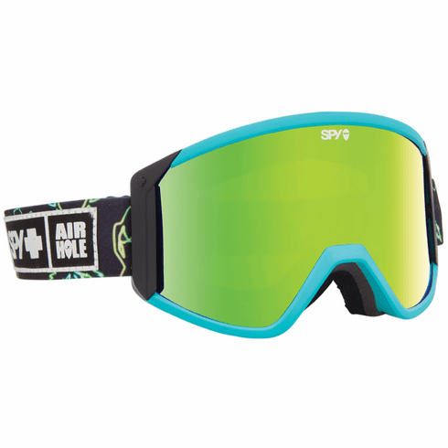(Sale!!!) Spy Optic Raider Snow Goggles<br>SPY + Airhole/Bronze w/Green Spectra + Persimmon