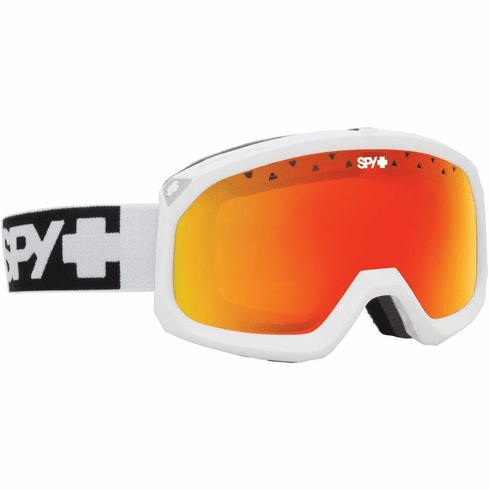 (Sale!!!) Spy Optic Trevor Snow Goggles<br>White/Bronze w Red Spectra