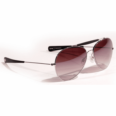 (Sale!!!) Spy Presidio Sunglasses<br>Crosstown Collection<br>Silver Matte Black/Twilight