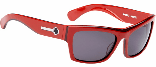 (Sale!!!) Spy Viente Sunglasses<br>Red-Black Stripes/Grey