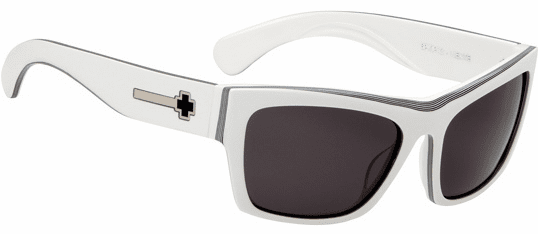(Sale!!!) Spy Viente Sunglasses<br>White-Black Stripes/Grey