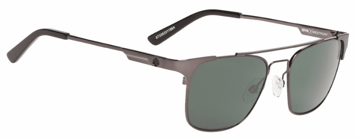 (Sale!!!) Spy Westport Sunglasses<br>Crosstown Collection<br>Gunmetal/Happy Grey Green Polarized