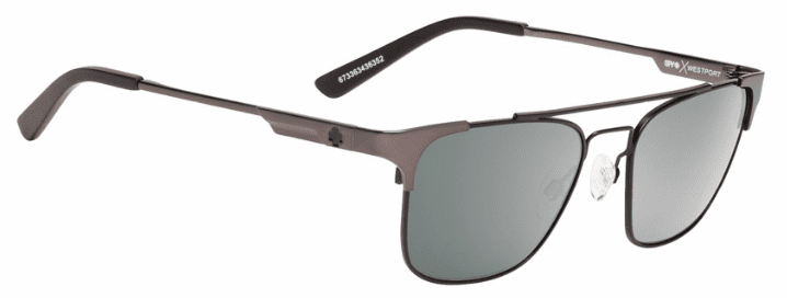 (Sale!!!) Spy Westport Sunglasses<br>Crosstown Collection<br>Matte Gunmetal/Matte Black/Happy Grey Green w/Silver Mirror