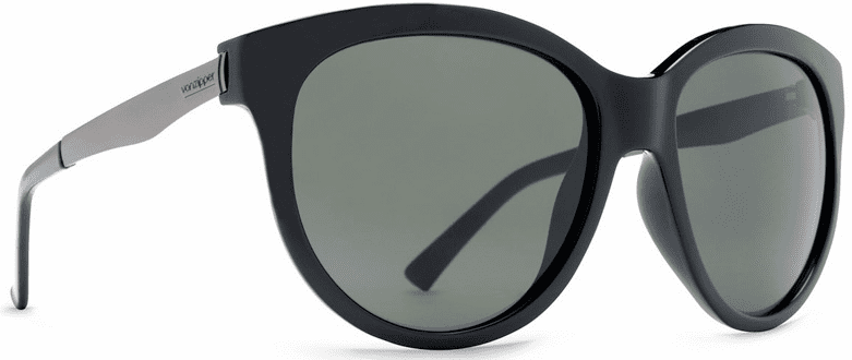 (Sale!!!) VonZipper Cheeks Sunglasses<br>Black Gloss/Vintage Grey
