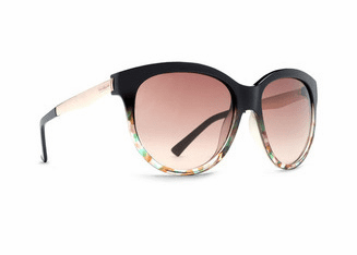 (Sale!!!) VonZipper Cheeks Sunglasses<br>Black Muddled Teal/Rose Fade