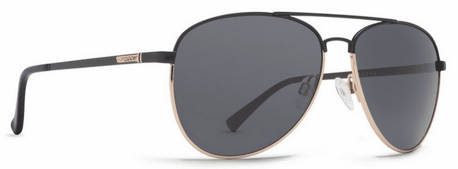 (Sale!!!) VonZipper Farva Sunglasses<br>Black Satin Gold/Grey