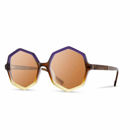 Shwood Aurora Sunglasses<br>Horizon/Elm Burl/Brown