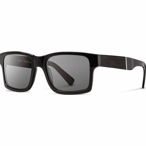 Shwood Haystack Sunglasses<br>Black/Ebony/Grey Polarized
