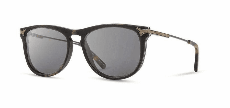 Shwood Keller Sunglasses<br>Distressed Dark Walnut/Grey