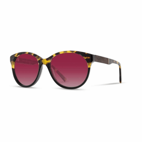 Shwood Madison Sunglasses<br>Leopard/Elm Burl/Rose Fade