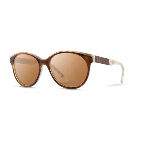 Shwood Madison Sunglasses<br>Salted Caramel/Mahogany/Brown
