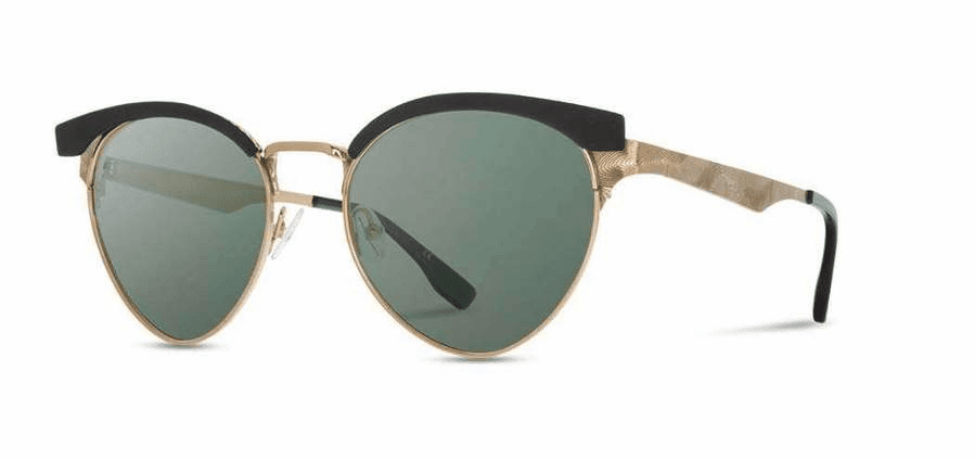Shwood Malone Sunglasses<br>Obsidian and Gold/G15
