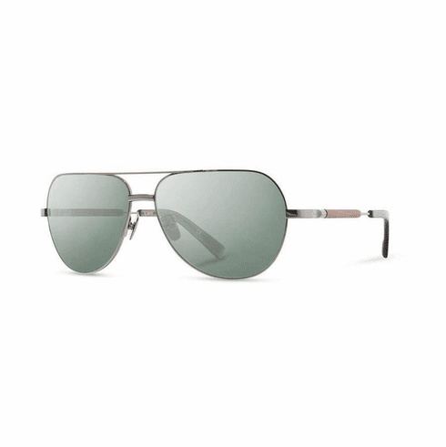 Shwood Redmond Sunglasses<br>Black Chrome/Mahogany/G15