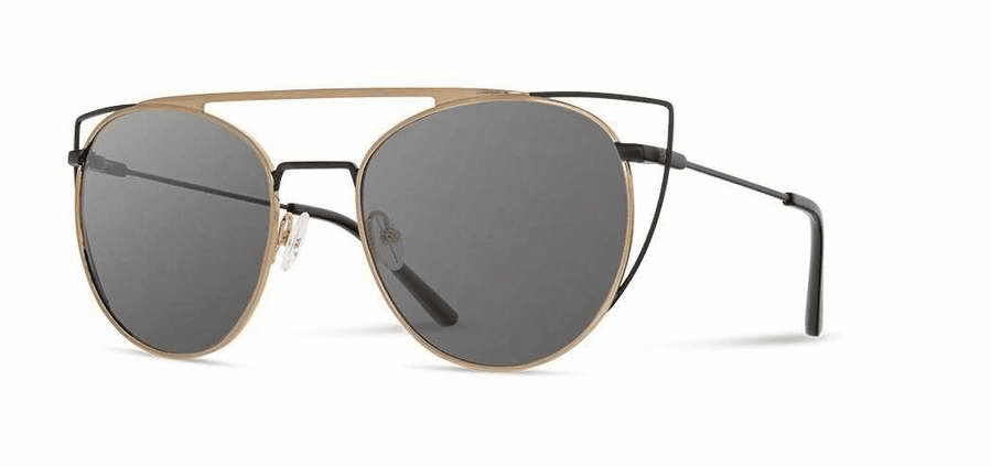 Shwood Zena Sunglasses<br>Obsidian and Gold/Grey