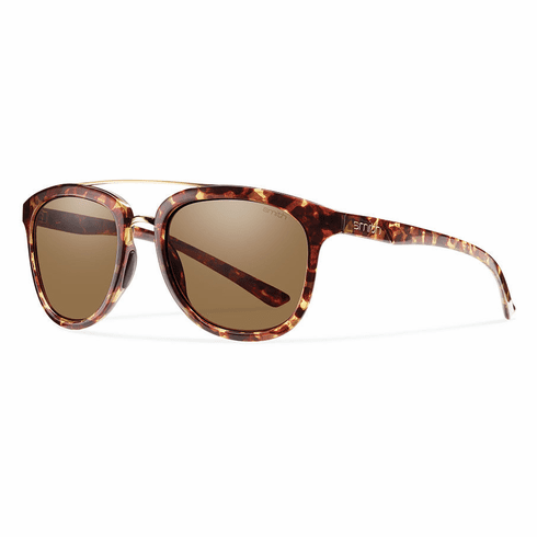Smith Clayton Sunglasses<br>Yellow Tortoise/ CP Polarized Brown