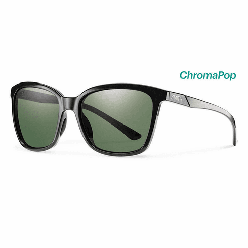 Smith Colette Sunglasses<br>Black/CP Polarized Gray Green
