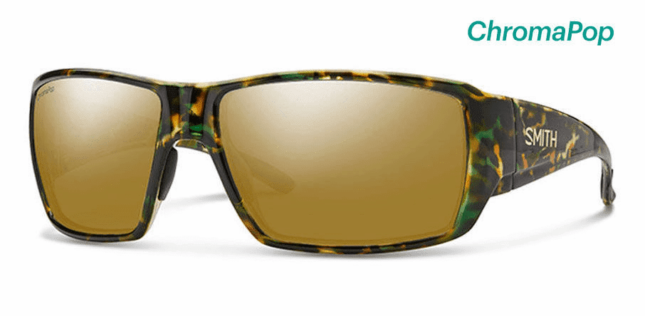 Smith Guide's Choice Sunglasses<br>Flecked Green Tortoise/Polarized Bronze Mirror