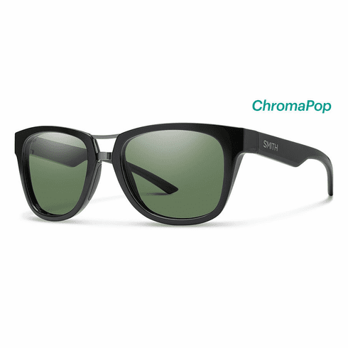 Smith Landmark Sunglasses<br>Black/Polarized Gray Green