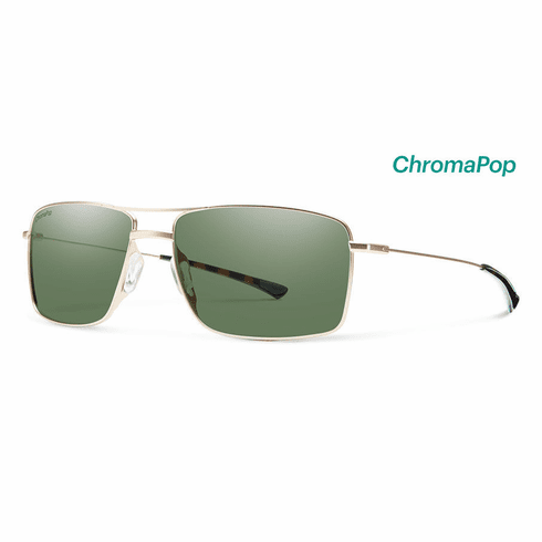 Smith Turner Sunglasses<br>Matte Gold/Polarized Gray Green