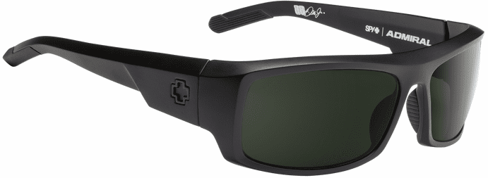 Spy Admiral Sunglasses<br>Matte Black/Happy Gray Green