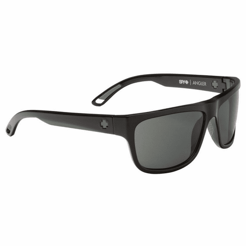 (Sale!!!) Spy Angler Sunglasses<br>Black/Happy Grey Green Polarized