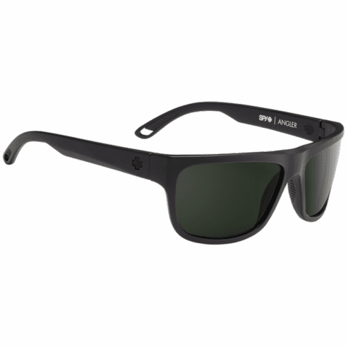 Spy Angler Sunglasses<br>Matte Black/Happy Gray Green