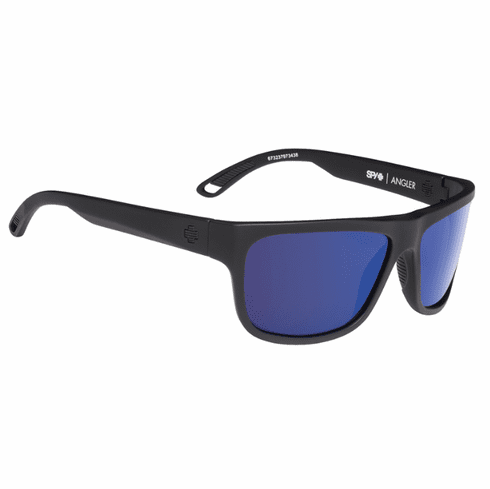 Spy Angler Sunglasses<br>Soft Matte Black/Happy Bronze Polarized w/Dark Blue Spectra