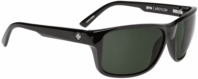 Spy Arcylon Sunglasses<br>Black/Happy Gray Green Polarized