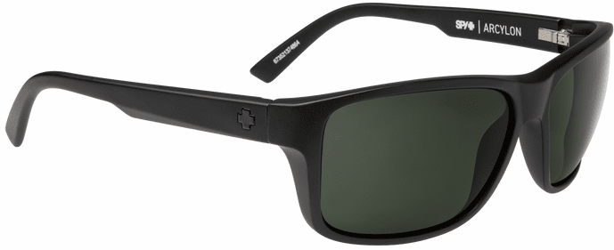 Spy Arcylon Sunglasses<br>Matte Black/Happy Gray Green Polar
