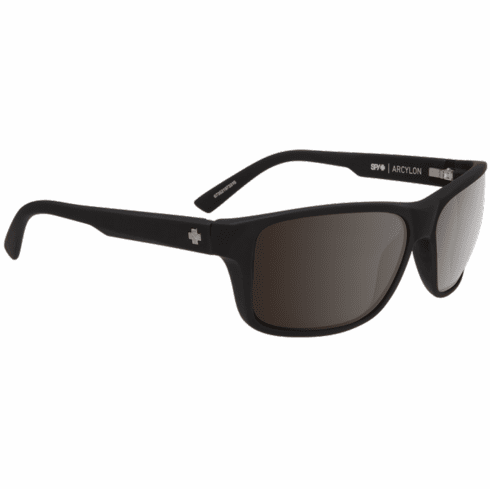 Spy Arcylon Sunglasses<br>Soft Matte Black/Happy Bronze w/Black Mirror