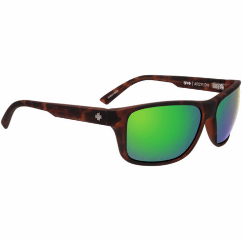 Spy Arcylon Sunglasses<br>Soft Matte Dark Tort/Happy Bronze w/Green Spectra