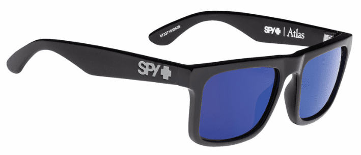 Spy Atlas Sunglasses<br>Black/Happy Bronze Polarized w/Dark Blue Spectra