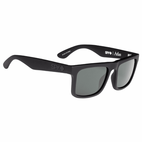 Spy Atlas Sunglasses<br>Soft Matte Black/Happy Grey Green