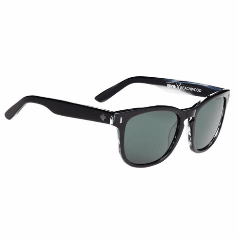 Spy Beachwood Sunglasses<br>Crosstown Collection<br>Black Horn/Happy Grey Green