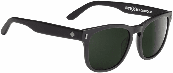 Spy Beachwood Sunglasses<br>Crosstown Collection<br>Matte Black/Happy Gray Green