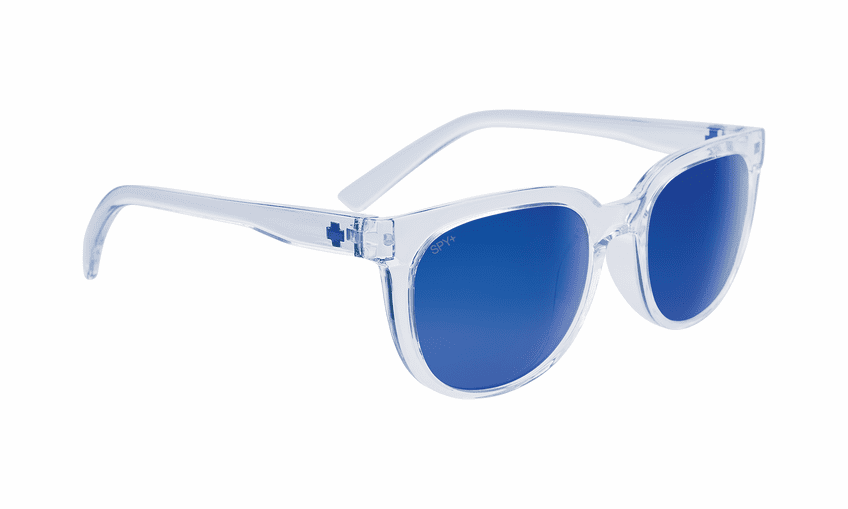 Spy Bewilder Sunglasses<br>Translucent Light Blue/Gray with Navy Spectra Mirror