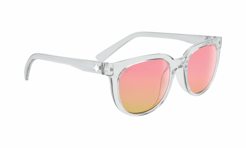 Spy Bewilder Sunglasses<br>Translucent Light Gray/Bronze with Iridescent Spectra