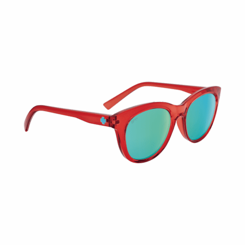 Spy Boundless Sunglasses<br>Translucent Red/Bronze with Light Blue Spectra Mirror