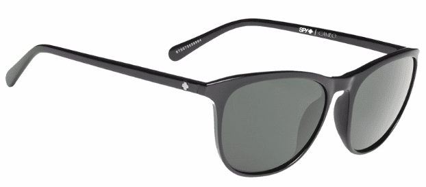 Spy Cameo Sunglasses<br>Black/Happy Grey Green Polar