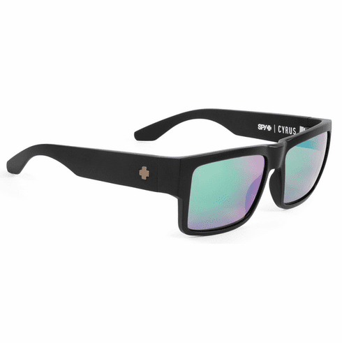 Spy Cyrus Sunglasses<br>Matte Black/HD Plus Bronze Polarized w/Green Spectra