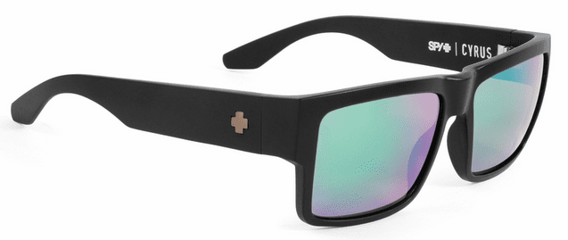 Spy Cyrus Sunglasses<br>Matte Black/Happy Bronze Polarized w/Green Spectra