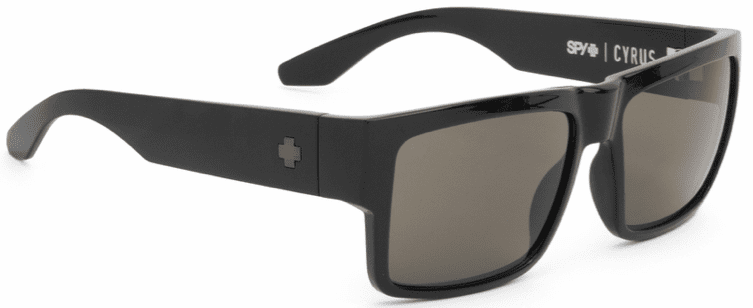 Spy Cyrus Sunglasses<br>Matte Black/HD Plus Grey-Green
