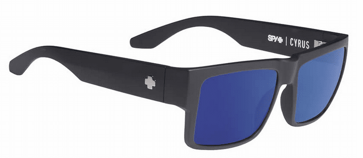 Spy Cyrus Sunglasses<br>Soft Matte Black/Happy Bronze w/Blue Spectra