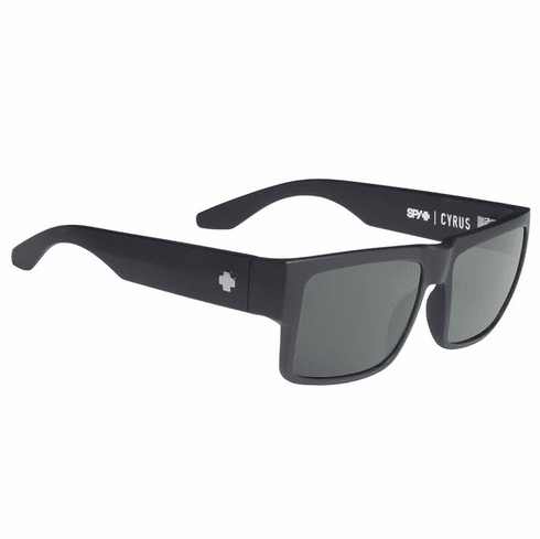 Spy Cyrus Sunglasses<br>Soft Matte Black/Happy Grey Green Polarized