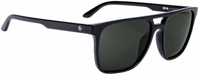 Spy Czar Sunglasses<br>Black/Happy Gray Green Polar