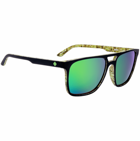 Spy Czar Sunglasses<br>Matte Black/Kushwall/HD Plus Bronze W/ Green Spectra Mirror