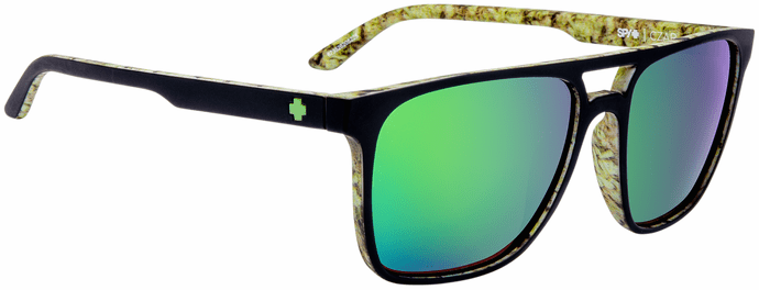 Spy Czar Sunglasses<br>Matte Black/Kushwall/Happy Bronze W/ Green Spectra Mirror