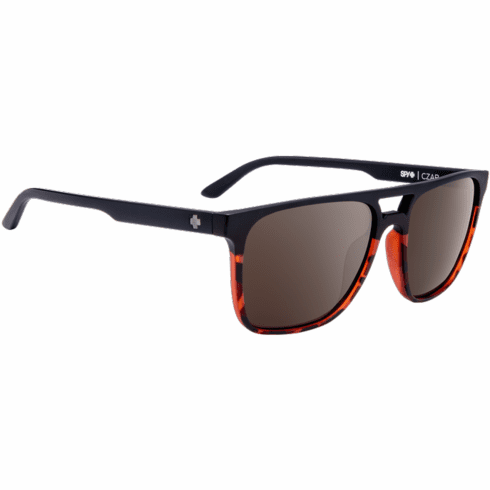 Spy Czar Sunglasses<br>Matte Black Tort fade/Happy Bronze Polar W/ Black Spectra Mirror